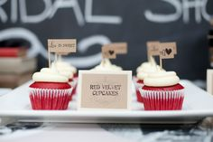 Kraft Paper Flags on Cupcakes