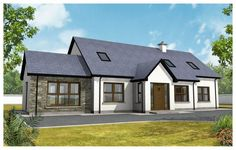 www.ie sites default files imagecache plan_main_image plan-images main-elevations Bungalow Homes, Bungalow House Plans, Bungalow House Design, Cottage Homes, Dormer House, Dormer Bungalow, Modern Bungalow Exterior, Modern Farmhouse Exterior, House Designs Ireland