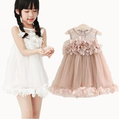 97b81dcc4 Girls Dress 2017 New Summer Mesh Girls Clothes Pink Applique Princess Dress  Children Summer Clothes Baby Girls Dress-in Dresses from Mother & Kids on  ...