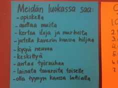 Luokan säännöt Social Skills, Special Education, Classroom, Teaching, Activities, School, Books, Class Room, Libros