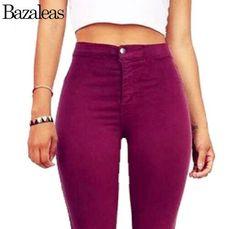 2016 Autumn Style Celebrity Women Stretch Skinny Jeans Woman Pantalones Vaqueros Denim High Waist Pants