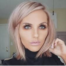 Image result for short rose gold hair