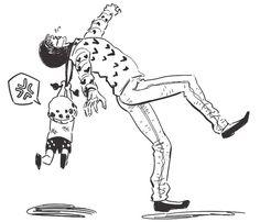 Law mad - Trafalgar D. Water Law and Donquixote Rocinante (Corazon) (Corasan, Cora-san) One Piece