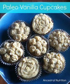 Vanilla cupcakes that are actually healthy! They are grain-free, sugar-free, paleo, primal, gluten-free and full of healthy fats!