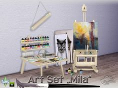 Sims 4 CC's - The Best: Mila Art Hobby Set by BuffSumm