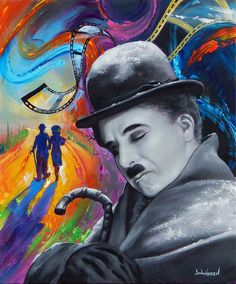 Charlie Chaplin Dreams in Technicolor * Artist Jim Warren Fantasy Myth Mythical Mystical Legend Elf Elves Dragon Dragons Fairy Fae Wings Fairies Mermaids Mermaid Siren Dragon Dragons Siren Sword Sorcery Magic Witch Wizard Whimsy Valkyrie Humor Funny Cute Hidden Surreal