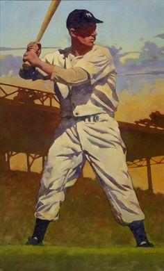 New York Yankees Joe DiMaggio by artist Gary Davis