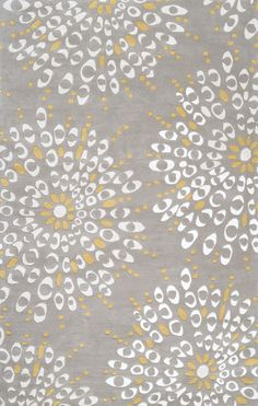 modern rug grey and yellow