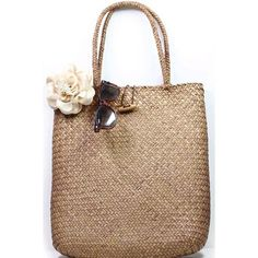 LUCLUC Brown Weaving Straw Tote Bag (68 BRL) ❤ liked on Polyvore featuring bags, handbags, lucluc, purses, man bag, tote handbags, straw tote handbags, brown tote and tote purses