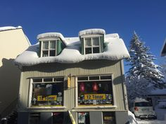 Reykjavík, Iceland in record snowfall. Pic of 12 Tonar record shop. Beautiful winter wonderland. We even saw the northern lights in the evening- would've been the perfect time to go to the Blue Lagoon, or hot spring!