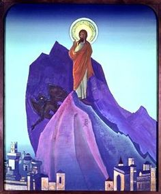 Temptation of Christ - Nicholas Roerich 1933
