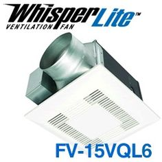 Panasonic FV 20VQ3   WhisperCeiling 190 CFM Ceiling Mounted Fan   Overview  | Bath Kitchen Sites | Pinterest | Ceilings, Bath And Kitchens