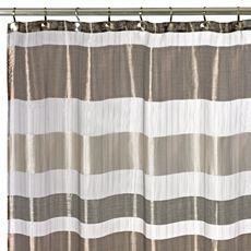 "Metallic Stripe 72"" x 72"" Shower Curtain - Bed Bath & Beyond"