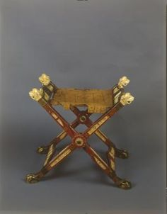 13th Century Folding Chair from Noonburg Monastery in Salzburg
