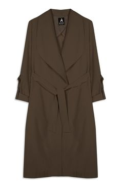 Primark - Brown Suedette Wrap Maxi Jacket