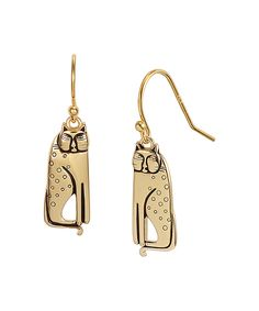 Laurel Burch Gold Siamese Cat Drop Earrings | zulily -  $34.99 $62.00 Product Description:  Glowing gold kitties shimmer with time-tested sparkle, bringing classic brilliance to your look.      0.31'' W x 0.81'' L     14k gold-plated sterling silver     Imported