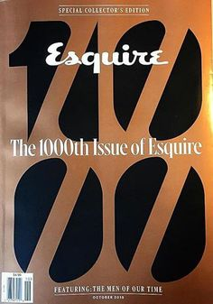 Esquire (US), Oct 2015, The 1000th Issue: Special Collector's Edition