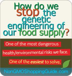 Get the non-GMO shopping guide to help you keep GMO's off your family's plate.