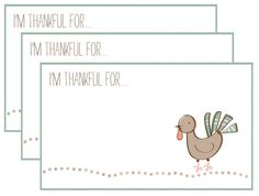 free printables - I'm Thankful For... ~ from I'm Feelin' Crafty