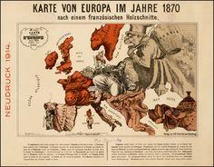 Karte Von Europa Im Jahre 1870 by Paul Hadol. Date: 1914
