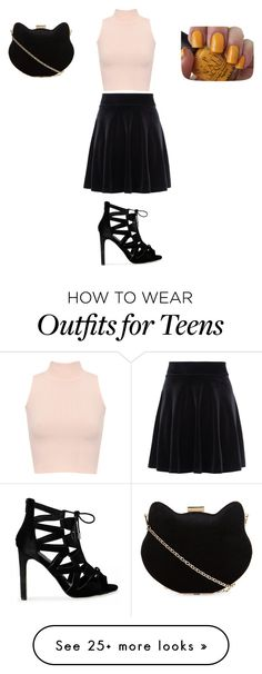 """""""Sans titre #6598"""" by ghilini-l-roquecoquille on Polyvore featuring WearAll, New Look and OPI"""