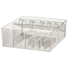 IKEA - GODMORGON, Box with compartments, smoked, Helps you organize your jewelry and makeup. Read about the terms in the Limited Warranty brochure. Bathroom Drawers, Bathroom Sets, Bathroom Storage, Relaxing Bathroom, Ikea Stockholm, Recycling Facility, Ikea Family, Wash Stand, Drawer Unit