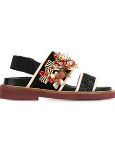 'Fussbett' embellished sandals $981 #TodaySale #relevant #marniDesigner