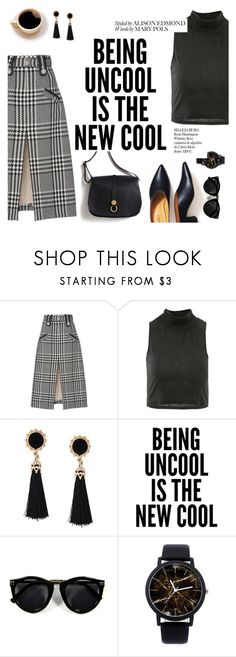 """""""Being uncool is the new cool"""" by lux-life ❤ liked on Polyvore featuring Oscar de la Renta, WALL and Whiteley"""