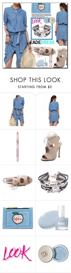 """""""Denim Dress By EadeDress 6/60"""" by esma178 ❤ liked on Polyvore featuring Skinnydip and NYX"""