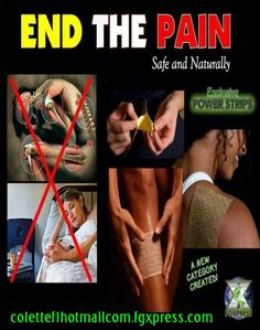 Safe and natural Power strips to reduce pain.