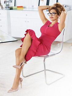 Eva Mendes Collection - Krista Flounced Sweater Dress - New York & Company Beautiful Celebrities, Most Beautiful Women, Beautiful Latina, Party Dresses For Women, Sexy Dresses, Eva Mendes Collection, New York And Company, Sexy Legs, Jennifer Lopez