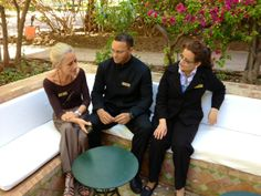 From Albrecth, general manager : Chantal Rivière, my sparkling new assistant with two of my most precious collaborators : Lalla Najat, general housekeeper and Si-Aziz, maître d'hôtel. They are already a solid team!