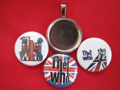 The Who Band W/ Handmade Interchangeable Magnetic New  Pendant w/Black  Necklace #Handmade #Pendant