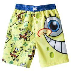 2f1ee5ab4a SpongeBob Square Pants Toddler Boys' Swim Trunk Spongebob Square, Boys Swim  Trunks, Square