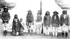 Naiche on far left, Perico in middle and Geronimo on the right.