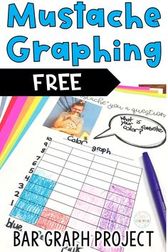 "Get this FREE Mustache bar graphing project for 1st, 2nd, or 3rd grade students. Have your students survey others and create a mustache bar graph of their data! Students will create a survey question, collect data, and display the results in a bar graph. This is designed primarily for 1st-3rd grade students. Included in this freebie: Mustaches, Mustache Graphing Planning Page, and I ""Mustache"" You A Question Page.  Get your FREE download now!"