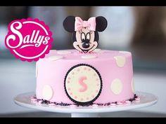 Minnie Mouse Torte / Motivtorte / Fondant Tutorial / mit Aufsteller - YouTube