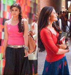 Alia bhatt in 2 states skirts