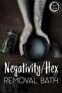 Sometimes we feel like we're carrying around some excess negativity, bad luck or even curses. Try this simple yet effective negativity/hex removal bath! Spiritual Bath, Spiritual Cleansing, Spiritual Quotes, Healing Spells, Magick Spells, Luck Spells, Healing Quotes, Witch Spell, Pagan Witch