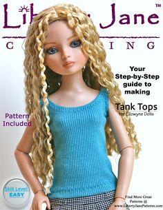 Free Tank Top Pattern for Ellowyne Dolls libertyjanepatterns.com