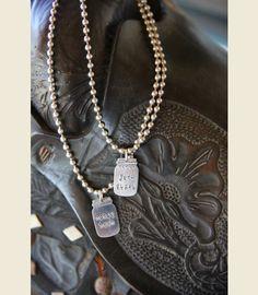 junk gypsy mason jar pendant necklace