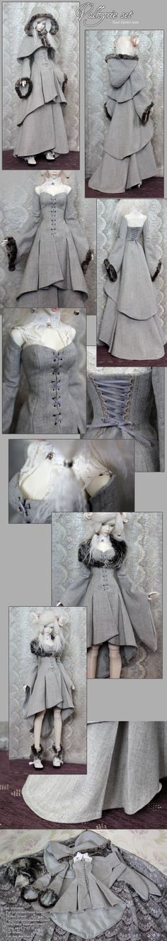 Once again, a doll has better outfits than i but this could easily be made for a person (Sigrun's Valkyrie Set)