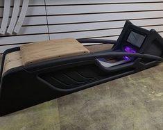Custom center console in the works by Custom Car Interior, Car Interior Design, Automotive Design, Car Interior Upholstery, Automotive Upholstery, Custom Car Audio, Custom Cars, Camaro Interior, Custom Silverado