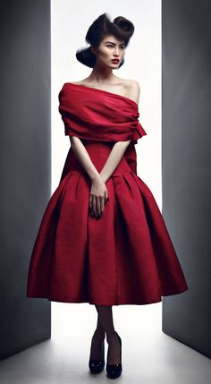 "1955 ""Atout Coeur ""dress, Spring-Summer haute couture Dior"