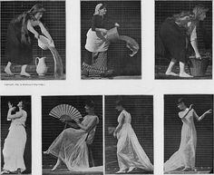 Eadweard Muybridge... kind of a pioneer photographer of sorts. He played with stop-motion photography using series of shots.