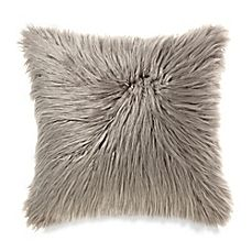 image of Mongolian Faux Fur Throw Pillow