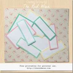 Free printable labels on The Red Wren Printable Labels, Free Printables, Home Management Binder, First Day Of Spring, Wren, Project Life, Home Crafts, Creations, Create