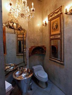 Tuscan Powder Room