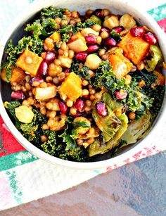 Wheat berry is the new hot super-grain, thanks to its exceptionally high fiber, protein, and iron contents and an array of vitamins and minerals. Combine those nutritional benefits with sweet pops of pomegranate and tangy Dijon mustard and we'd be remiss to resist. Get the recipe at Eats Well With Others.    - Redbook.com