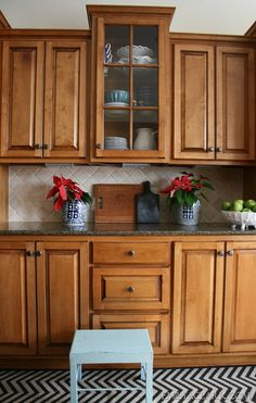 our kitchen (Christmas home tour at emilyaclark.com)